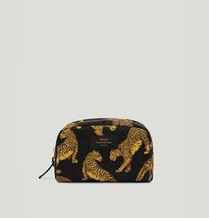 Black Leopard Toiletry Case