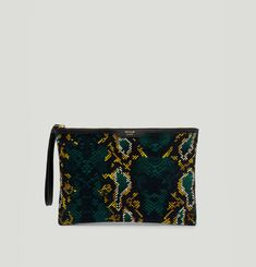Velvet Night Snakeskin Clutch