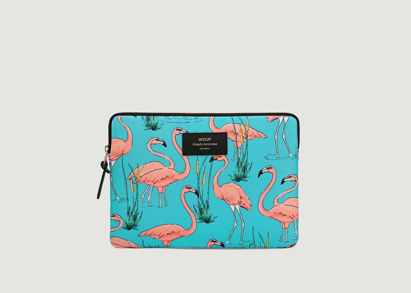 Pochette Ipad Pink Flamingos - Wouf