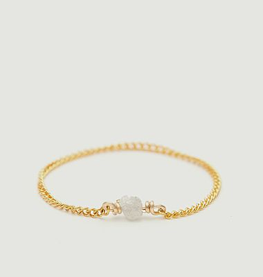 Diamant Brut gold filled chain ring