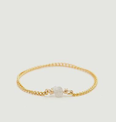 Bague chaîne gold filled Diamant Brut