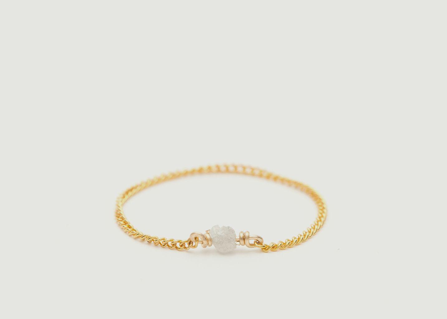 Bague chaîne gold filled Diamant Brut - YAY