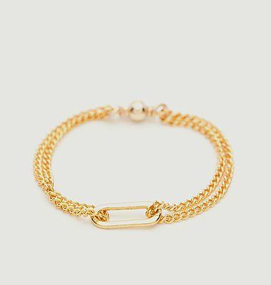 Bague chaîne gold filled Essentiel Lien