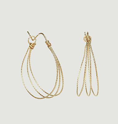 Boucles d'oreilles créoles gold filled Eclat Triple