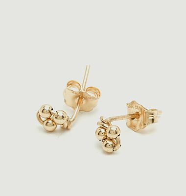 Boucles d'oreilles puces gold filled Grelots