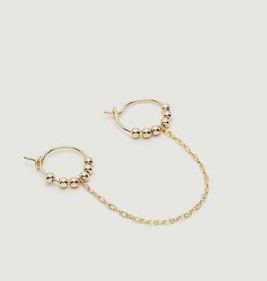 Boucles d'oreilles chaînette jumelle Fruits d'or