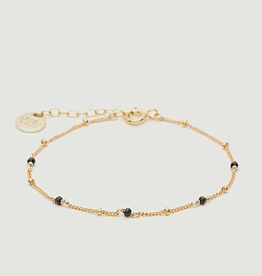 Satellite facetted stones gold filled bracelet