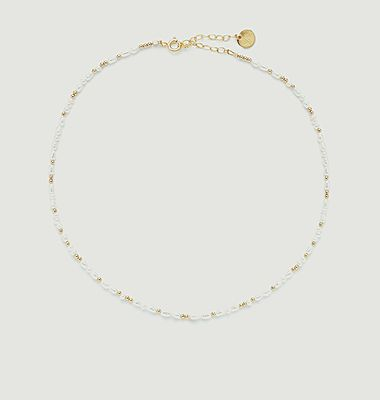 Collier perles de culture Grain de riz Queen