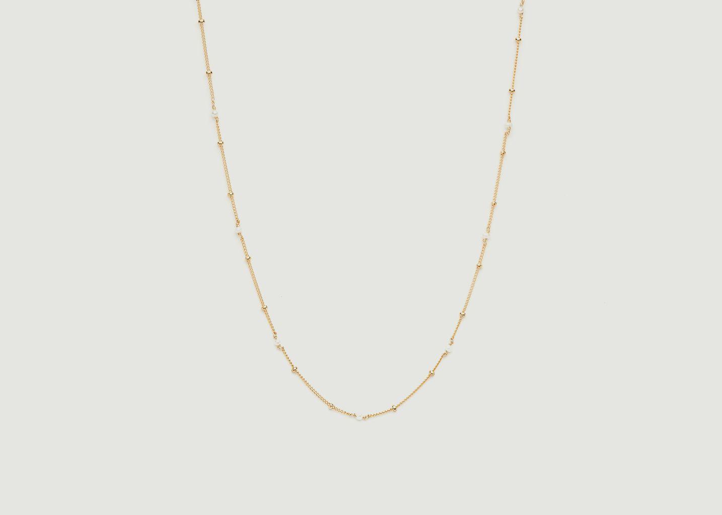 Collier gold filled avec pierres de culture Satellite - YAY