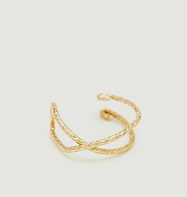 Faux piercing gold filled Eclat Croisé