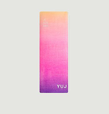 Tapis de yoga avec lettrage imprimé Gradient