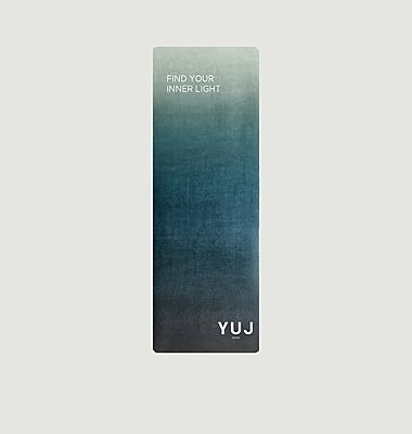 Gradient Earth yoga mat with printed lettering