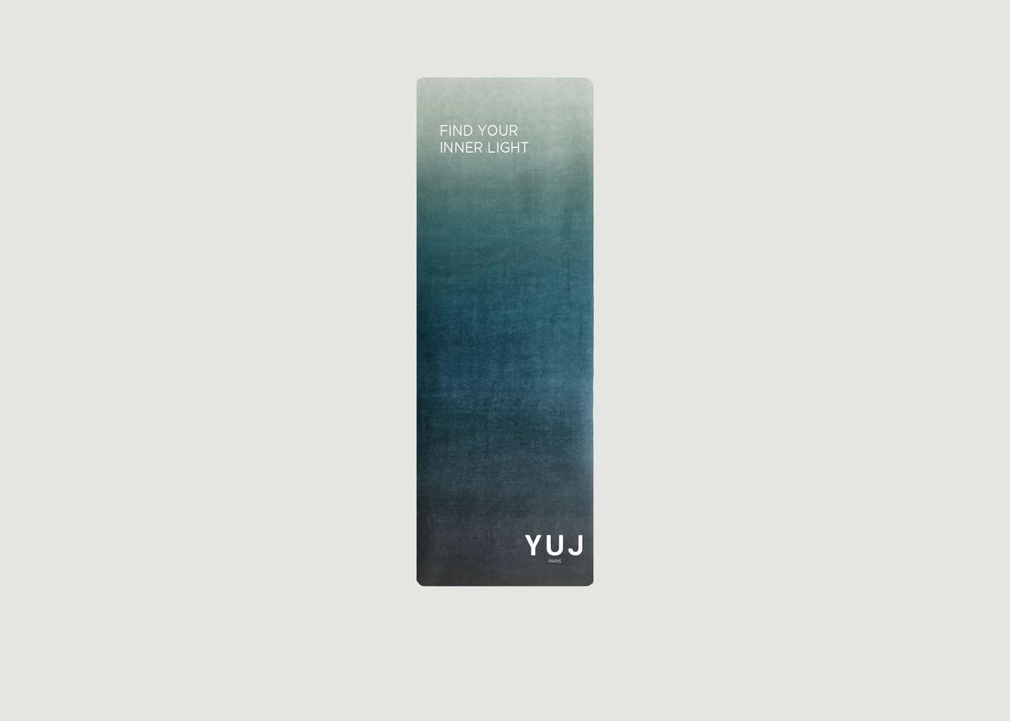 Tapis de yoga avec lettrage imprimé Gradient Earth - YUJ Paris