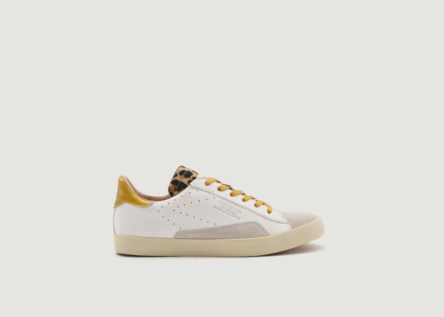 Sneakers en cuir craquelé SC01 - 0-105