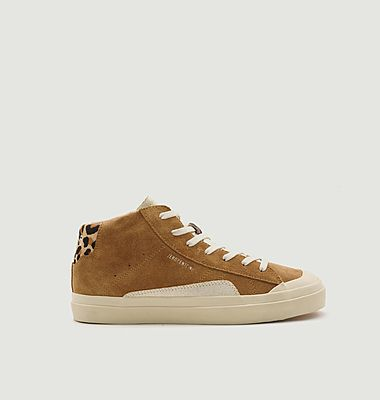 Sneakers montantes en cuir suédé Topaz