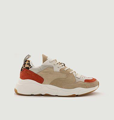 Sneakers de running en cuir et tissu Onix