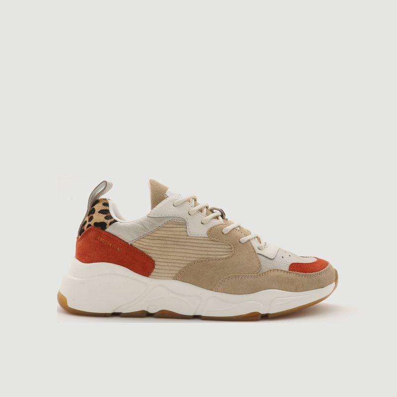 Sneakers de running en cuir et tissu Onix - 0-105