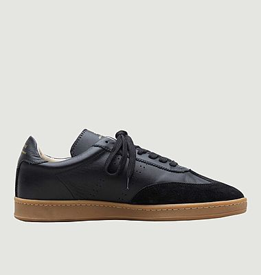 ZSPGT bi-material leather sneakers