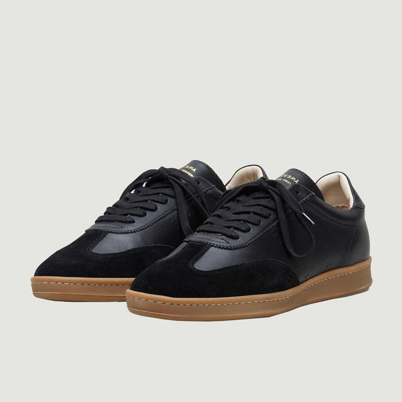 Sneakers en cuir bi-matière ZSPGT - Zespa