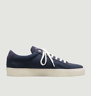 ZSPRT canvas and leather sneakers