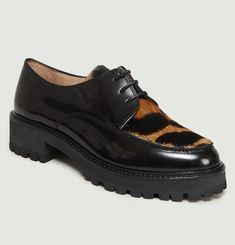 Patent Leather Platform Derbies