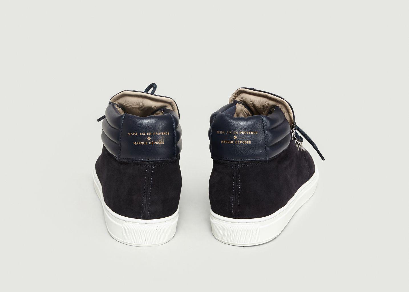 à ZSP2 Zespa 30 Soldes L Montante Suède Sneakers Bleu Marine 06EqRf