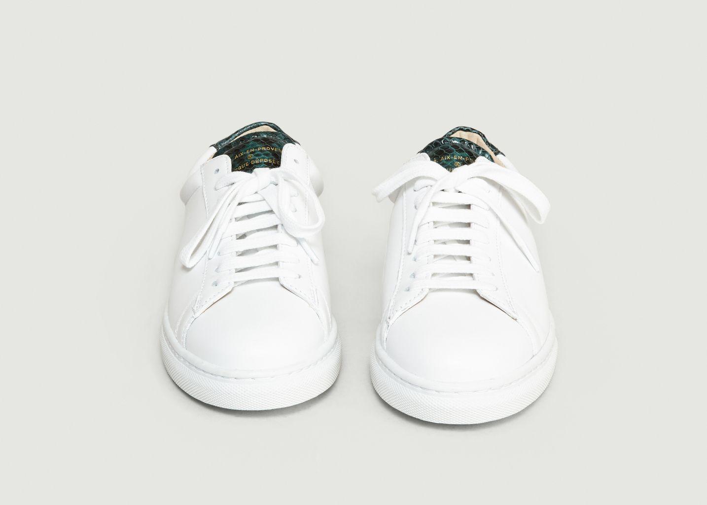 Sneakers ZSP4 En Cuir Nappa Apla Vipère - Zespa