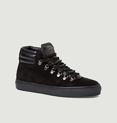 ZSP2 Monochrome suede leather high sneakers