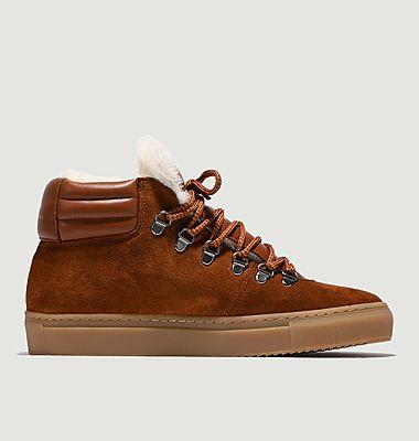 Sneakers montantes en cuir suédé et simili fourrure ZSP2
