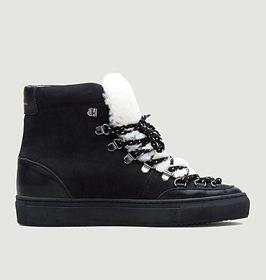 Sneakers montantes en nubuck et simili fourrure ZSP2.MT