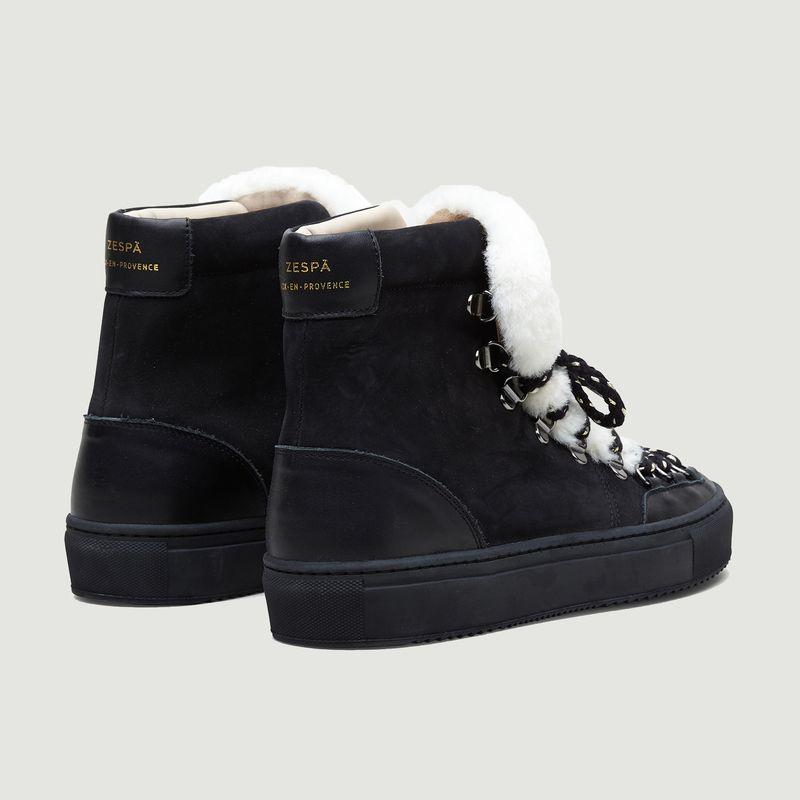 Sneakers montantes en nubuck et simili fourrure ZSP2.MT - Zespa