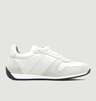 ZSP6 Monochrome canvas and suede leather sneakers