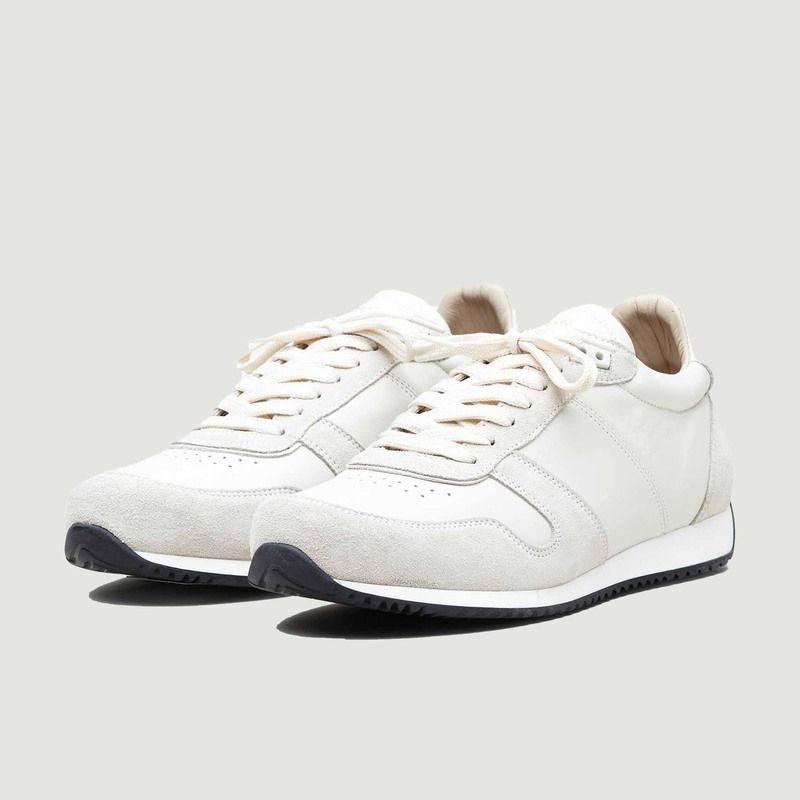 Sneakers en textile et cuir suédé ZSP6 Monochrome - Zespa