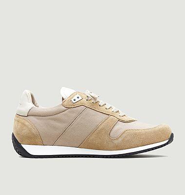 Sneakers en textile et cuir suédé ZSP6 Monochrome